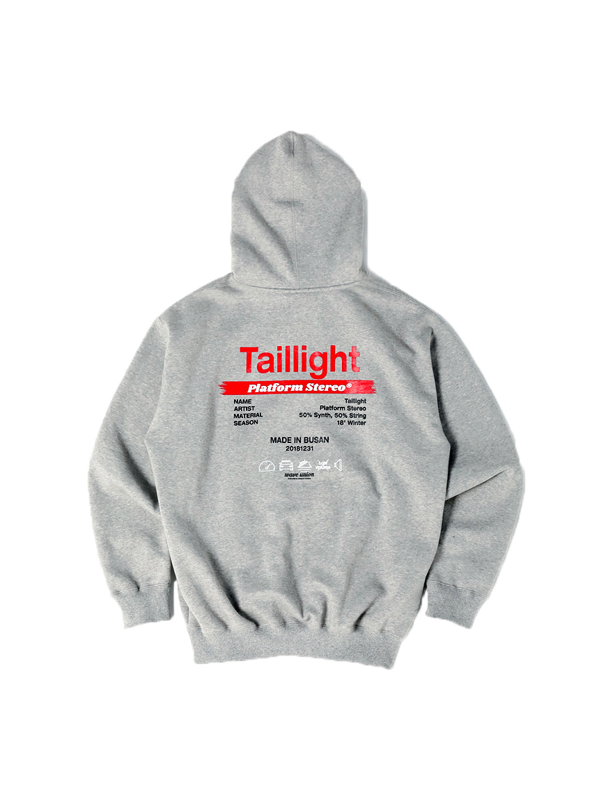 Taillight Hoody gray