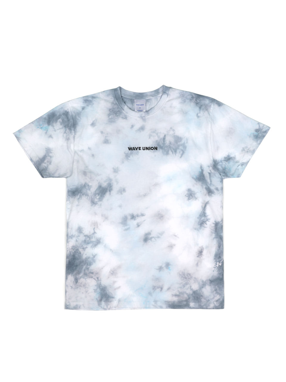 Tie-dye short sleeve T-shirts skyblue (Exclusive)