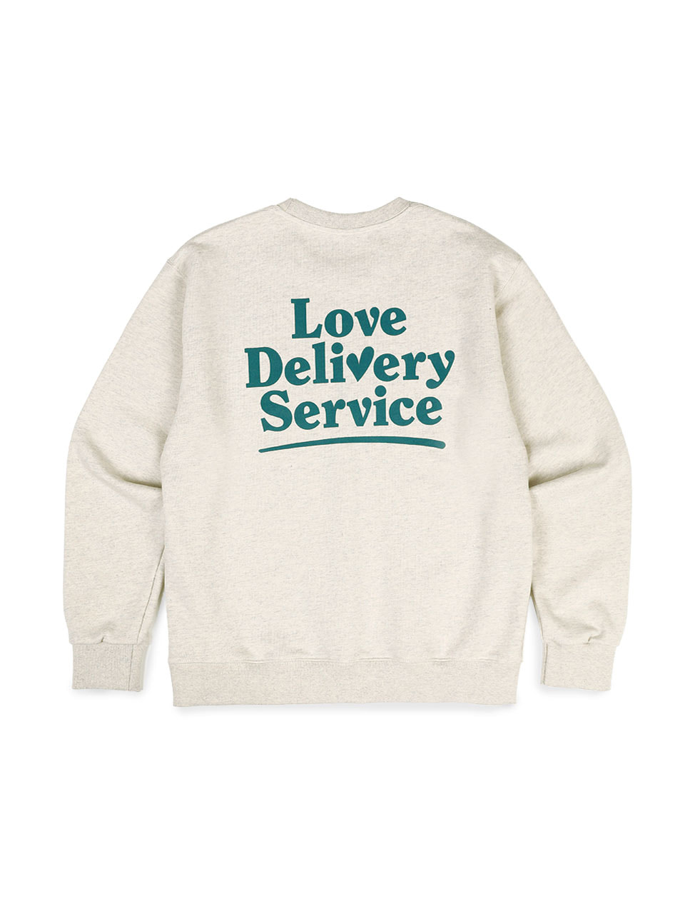 Love delivery service Sweat shirts heather gray (ivory)